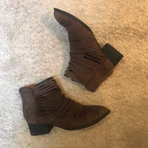 Free people strappy ankle boot sz 40/10